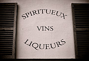 Old Wall Photo Prints - Spiritueux Vins Liqueurs Print by Olivier Le Queinec