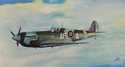 Spitfire Painting Prints - Spitfire Print by Donald W White