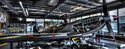 World War 2 Aviation Prints - Spitfire hanger panorama Print by Ian Hufton