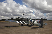 Spitfire Photos - Spitfire on apron by Allan Bell
