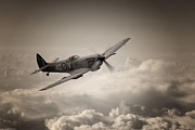 Patrol Digital Art Prints - Spitfire Patrol Print by James Biggadike