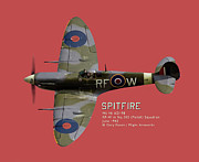 Supermarine Prints - Spitfire portrait - commissions welcome Print by Gary Eason