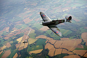 Supermarine Prints - Spitfire victory Print by Gary Eason