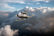 Iconic Design Posters - Spitfires among clouds Poster by Gary Eason