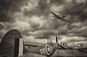 Spitfire Photos - Spitfires by Graham Moore