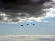 Spitfire Photos - Spitfires Three by Carl Perkins