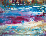 Pouring Mixed Media - Splash by Judy Constantine