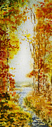 Guest Painting Prints - Splash of Fall Print by Irina Sztukowski
