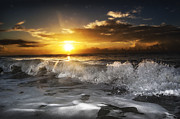 Clouds Photographs Originals - Splash Sunrise by  Island Sunrise and Sunsets Pieter Jordaan