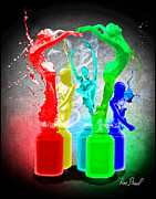 Paint Splash Photos - Splashdance by Ron Pearl