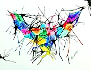 Christy Bruna Art - Splatter Bat by Christy Bruna