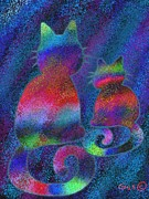 Nick Gustafson Art - Splatter Cats by Nick Gustafson
