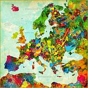 Gary Grayson - Splatter Map of Europe