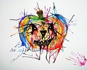 Splatter Pumpkin Print by Christy Bruna