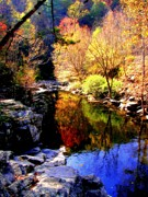 Reflective Waters Posters - SPLENDOR of AUTUMN Poster by Karen Wiles