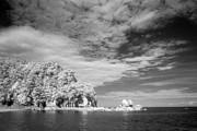 Split Apple Rock Abel Tasman Np Print by Colin and Linda McKie