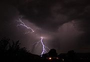 Lightning Storms Prints - Split Bolt Print by Gary Kaylor