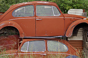 Rusted Cars Prints - Split Personality  Print by Juls Adams