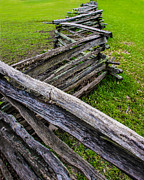 Split Rail Fence Digital Art Framed Prints - Split Rail fence Framed Print by Mac Titmus
