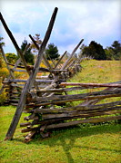 Western Ky Prints - Split Rail Print by Karen Wiles