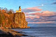 North Shore Prints - Split Rock Lighthouse Afternoon Print by Michael Pickett