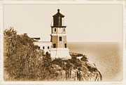Kristin Elmquist Metal Prints - Split Rock Lighthouse Metal Print by Kristin Elmquist