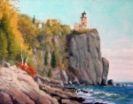 Picturesque Painting Prints - Split Rock Lighthouse Print by Rick Hansen