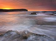 Pennington Bay Metal Prints - Splitting the Tides Metal Print by Mike  Dawson