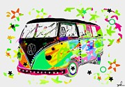 60s Mixed Media - Splitty pop 2 by David Rogers