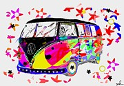 Slash Mixed Media Metal Prints - Splitty pop Metal Print by David Rogers