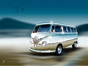 Combi Framed Prints - Splitty Reflections Framed Print by Linton Hart