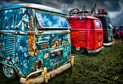 Combi Framed Prints - Splitty Rotters Framed Print by Linton Hart
