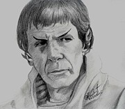 Spock Drawings Framed Prints - Spock 1 Framed Print by Anthony Verburgt