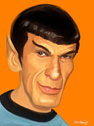 Fan Art Digital Art - Spock by Brett Hardin