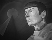 Fan Art Paintings - Spock IDIC by Gee Lyon
