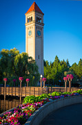 Spokane Framed Prints - Spokane Clocktower Framed Print by Inge Johnsson
