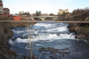 Spokane River Prints - Spokane Falls in Winter Print by Carol Groenen