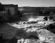 Spokane Framed Prints - Spokane Falls Spring Flow Framed Print by Paul DeRocker
