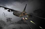 Ac-130 Prints - Spooky Print by James Biggadike