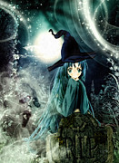 Anime Prints - Spooky Night Print by Mo T