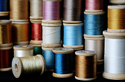 Bobbin Photos - Spools  by Sarah Schroder