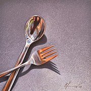 Elena Kolotusha - Spoon and fork 1