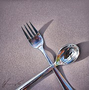Elena Kolotusha - Spoon and fork 2