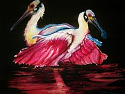 Spoonbill Paintings - Spoon Dance SOLD by Lil Taylor