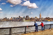Skylines Art - Sport - Fishing by Mike Savad
