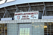 Nfl Mixed Media Framed Prints - Sports Authority Field At Mile High Framed Print by Angelina Vick