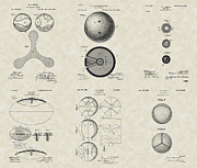 Technical Art Drawings Prints - Sports Balls Patent Collection Print by PatentsAsArt
