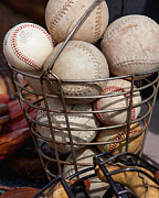 Baseball Closeup Photo Metal Prints - Sports - Baseballs and Softballs Metal Print by Art Block Collections