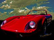 Chas Sinklier - Sports Car in Red on a...