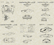 Mechanic Drawings Framed Prints - Sports Cars Patent Collection Framed Print by PatentsAsArt